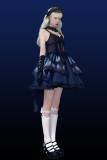 Star Fantacy -Night Elf-  Butterfly Gothic Punk Lolita JSK Version II, Topwear and Skirt