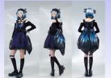 Star Fantacy -Night Elf-  Butterfly Gothic Punk Lolita JSK Version I