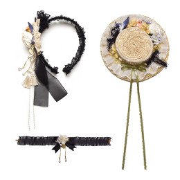 Southern Cross -Flora- Classic Lolita Headdress and Necklace