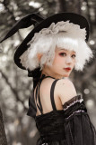 Little Witch Gothic Halloween Lolita Arm Sleeves and Hat
