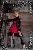 Kiyana -End of the Army- Ouji Military Lolita JSK, Short Jacket and Cloak