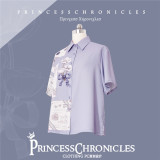 Princess Chronicles -Snow in the Moonlight- Ouji Lolita Printed Blouse and Shorts