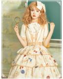 Yinluofu -Rabbit Spaceman- Sweet Lolita OP Dress