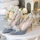 Tea Party Wedding Pointed Toe Hight Heel Lolita Shoes