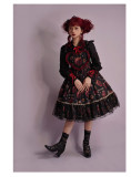 Halloween Sweet Gothic Strawberry Lolita JSK and Hairclips Set