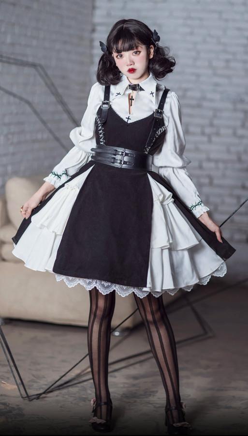 Stockholm Lover Halloween Gothic Lolita JSK and Blouse