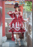 Bramble Rose -Magpie Bridge- Qi Normal Waist Lolita JSK Full Set
