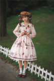 Miss Point -Chocolate Weekly Newspaper- Classic Casual Lolita OP Dress