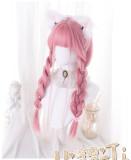 Heng Ji - 69cm Long Straight Dark Pink Lolita Wig