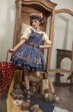 Miss Point -Chocolate Weekly Newspaper- Classic Casual Lolita Salopettes