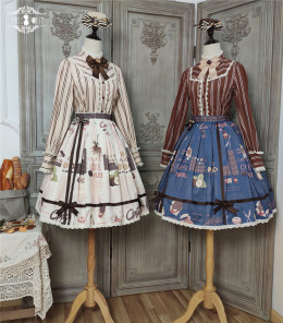 Miss Point -Chocolate Weekly Newspaper- Classic Casual Lolita Skirt