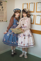 Miss Point -Chocolate Weekly Newspaper- Classic Casual Lolita JSK