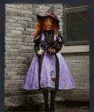 Withpuji -The Spell Time of Searcy- Halloween Gothic Lolita OP Dress