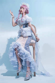 Fantastic Wind -Little Mermaid- Princess Lolita Mermaid Dress