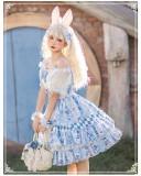 Yinluofu -Alice Rabbit- Sweet Lolita Skirt and Blouse