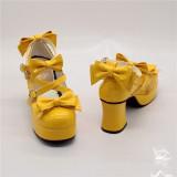Antaina - Sweet Round Toe Chunky Heel Lolita Platform Shoes