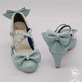 Antaina - Sweet Princess Round Toe Pearl Lolita Heel Shoes