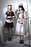 CatHighness - Scarlet Cross- Halloween Gothic Nurse Lolita OP Dress