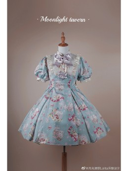 Moonlight Tavern - Cat Mailbox- Classic Vintage Lolita OP Dress