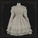 The Liliana Sisters - Classic Vintage Doll Lolita OP Dress(Short Version)