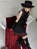 Foxtrot Lolita -Flange Pledge- Ouji Military Gothic Lolita JSK and Cape Set