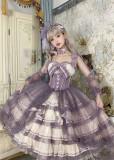 The Ann of April -Grape champagne- Tea Party Princess Lolita JSK Full Set