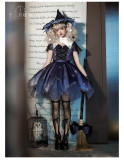 Night Witch and Pumpkin Witch Halloween Gothic Lolita Hat