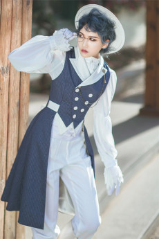 Immortal Thorn - Wind of the Day- Ouji Sleeveless Lolita Long Vest Jacket