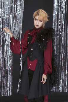 Immortal Thorn - Appointment of Night- Ouji Sleeveless Lolita Long Vest Jacket