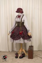 Fantastic Wind -Little Red Riding Hood- Punk Lolita Salopettes
