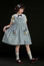 Summer Fairy -Avocado Hedgehog- High Waist Casual Lolita JSK Overskirt Dress