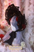 One Night Language - Gothic Lolita Bonnet