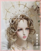 SL- Lolita Crown Headdress Necklace and Ear Ring
