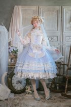 Nineodes -spring in the carden- Gorgeous Hime Princess Lolita Jumper Skirt Dress