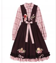 Pastoral in the Country Sweet Lolita OP and Embroidery Apron Overskirt