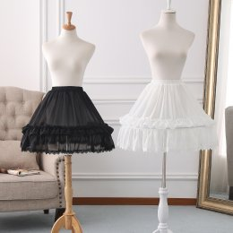 A-line Shaped 46cm Long Adjustable Puffy Level Lolita Petticoat
