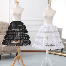 A-line Shaped Bell Shaped 60cm Long Adjustable Puffy Level Ruffled Birdcage Lolita Petticoat