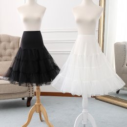A-line Shaped 60cm Long Glass Yarn  Lolita Petticoat