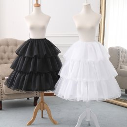 Diamond Tulle Adjustable Puffy Level and Length 50-70cm Lolita Petticoat
