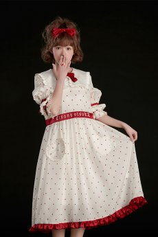 Summer Fairy -Sweet Heart- Middle Length Sleeves Casual Lolita OP One Piece Dress