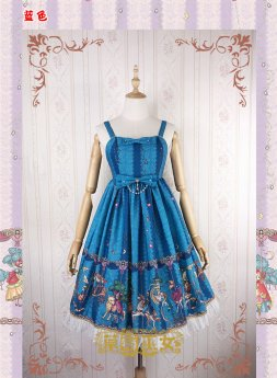 Strawberry Witch -Amusement Park- Sweet Lolita JSK Jumper Skirt Dresses