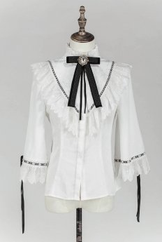 Lost Angel -The Night of Witch- Gothic Stand Collar Lolita Blouse