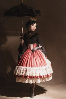 Miss Point -Elizabeth- Classic Rococo Princess Lolita Full Set for Autumn and Winter(Skirt+Blouse+Accessories)
