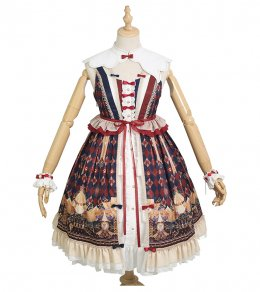 Mita -Meow Charm- Qi Lolita JSK Jumper Skirt Dress