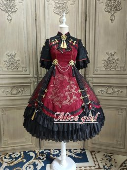 Alice Girl -Disturbed Magpie- Qi Lolita OP One Piece Dress