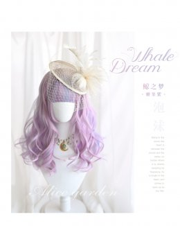 Alice Garden - 45cm Middle Length Curly Wavy Pastel Rainbow Lolita Wig