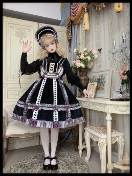 Night and Star Song Vintage Classic Lolita JSK, Blouse and Cape for Autumn and Winter