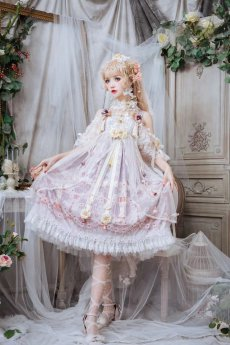 Mono Girl -Pearl Chess- Sweet High Waist Lolita JSK
