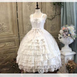 Secret Garden in Midsummer Tea Party Classic Lolita Jumper Skirt Dress