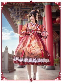 Mofina -Song of the Phoenix- Qi High Waist Lolita JSK and Jacket